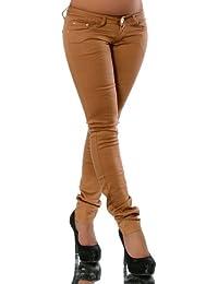 G427 pantalon pour femme jeans jean slim hüftjeans röhrenhose tube taille basse