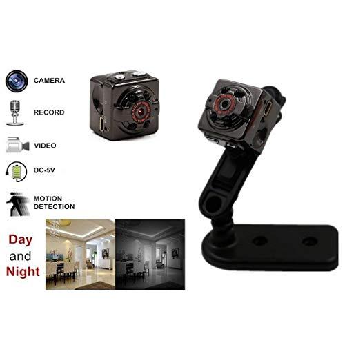 melyseu Mini cámara  1080p HD portátil cámara espía oculta con visión nocturna  detección de movimiento  compatible con tarjetas maX. de 32GB TF Como Nanny Cámara o para Hogar y Oficina de supervisión  Negro