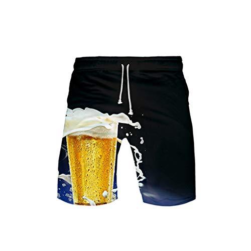 Ikea Tasche Kostüm - Dasongff Shorts Paar Strandhosen Beer Print