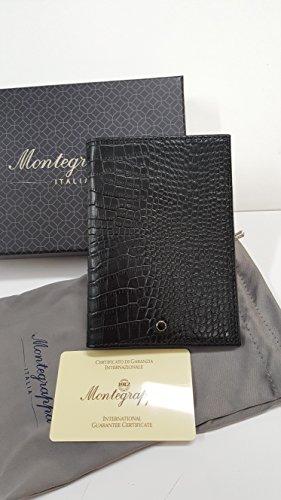 Porta passaporto in pelle vitello primo fiore Montegrappa