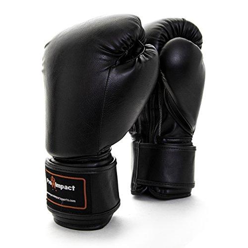 Pro impacto guantes de boxeo 16oz negro