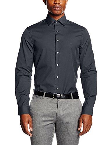 Calvin Klein CANNES FITTED FEC-Camicia formale Uomo    Grigio (IVY 354) 40