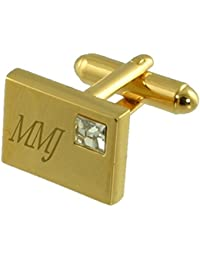 San Juan City Gold-tone Flag Cufflinks Engraved Box