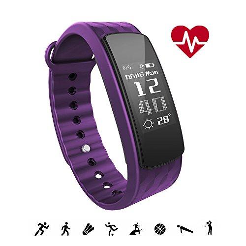 Fitness Tracker iWOWNfit i6 HR ergonomisch Wasserdicht Bluetooth Armbänder mit Aktivitätstracker Schrittzähler Pulsmesser Schlafanalyse Kalorienzähler Kamerabedienung Vibrationswecker für iOS Android