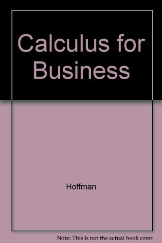 Calculus for Business por Hoffman