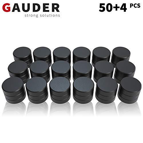 GAUDER Magnete für Magnettafel | Ferrit-Magnete für Whiteboard, Pinnwand und Kühlschrank | Haftmagnete rund
