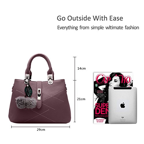 Nicole&Doris 2017 new wave packet Messenger bag ladies handbag female bag handbags for women(Dark red)