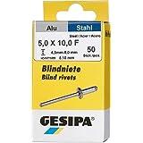 Gesipa 0/2951/000/5,0/10/99 blindklinknagels mini pack aluminium st. = 1 pakket, 5 x 10, 50 stuks, grijs, 100
