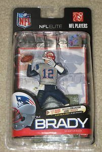 McFarlane Toys NFL Sports Picks Exclusive NFL Elite Series 1 Action Figure Tom Brady (New England Patriots) Silver Jersey Variant by Unknown (Tom Brady Mcfarlane Figuren)