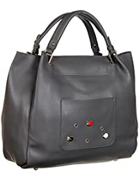 Abrazo Fashionable Grey Color Hand Bag For Women's In Good PU Material