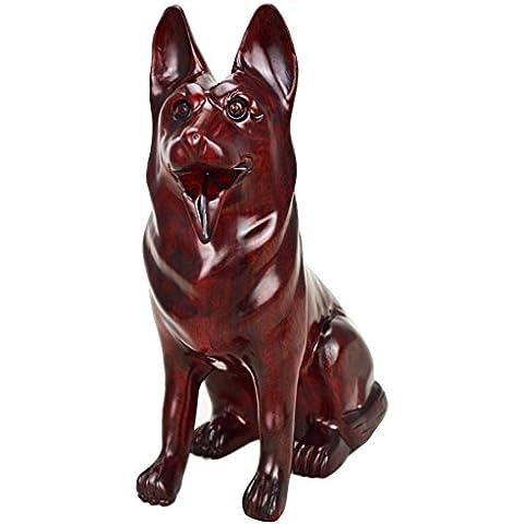 XL-5-Ufficio Feng Shui ornamenti intagliati mogano mogano Zodiac cane cani , purple , 19*9.5*24.5