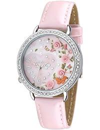 ufengke® mini-polymer clay mode handgelenk armbanduhren-rosa band und blumen schmetterling herz thema