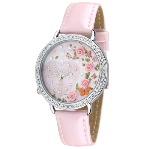 ufengke® reloj de pulsera-rosa Mini arcilla polimérica muñeca de moda correa de y flores tema del corazón de la mariposa
