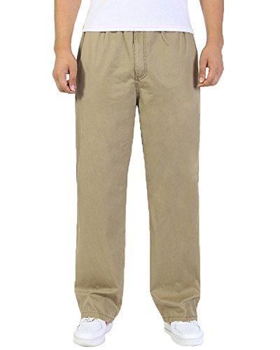 Pantaloni in cotone Cargo con elastico Loose-Fit per il tempo