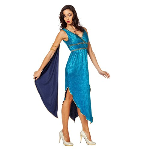 NEU Damen-Kostüm Pfau, Kleid mit Rückenteil, ()