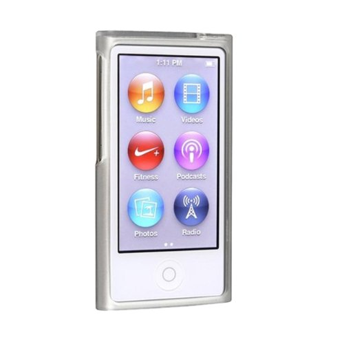 toogoor-tpu-rubber-skin-case-compatible-with-apple-ipod-nano-7th-generation-frost-clear-white
