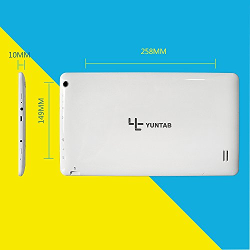 Yuntab-101inch-android-tablets-Google-Tablet-PC-TP-HD-1024600-Capacitive-Screen-Android-44-KitKat-Quad-Core-Allwinner-A33-512-MB-RAM-8GB-ROM-15GHz-Dual-Cameras-03MP-20MP-WiFi-Bluetooth-Google-Play-Pre