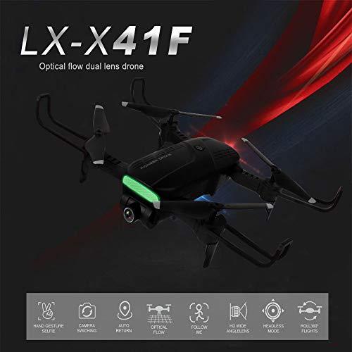 TianranRT❄ Halten Sie Drone Mit Kamara,New Gelassenheit Wifi 2,4 Ghz 4-Kanal-720P Dual-Kamera Optical-Flow Rc Quadcopter Drone,Schwarz - Dual-aluminium-kanal