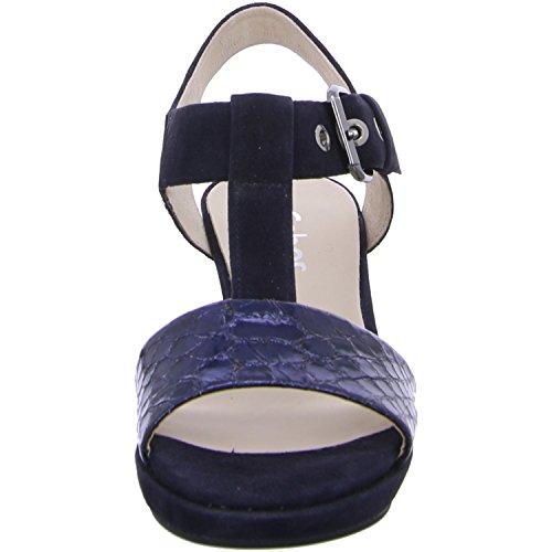 Gabor Damen Comfort Offene Sandalen Blau
