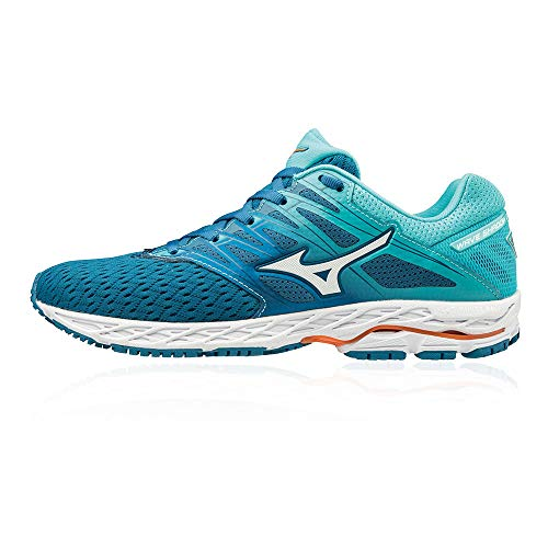 Mizuno Women Wave Shadow 2 Competition Running Shoe Running Shoes Blue - Mint 7