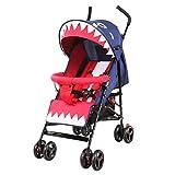 SHH Faltbare Babyauto ultra leichte tragbare kann liegen liegen Kinderwagen Kind Stoßdämpfer Trolley