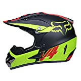 WZFC Crosshelm Motocross Enduro Downhill Helm Motorradhelm Integralhelm (Model-FOX-12),XL
