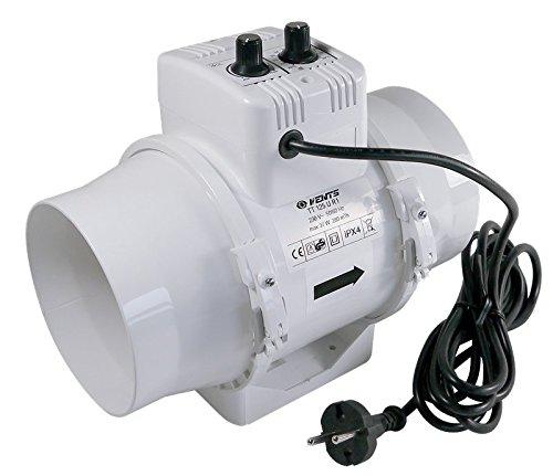 Preisvergleich Produktbild Vents Rohrlüfter TT125UR1, Ø 125mm 280 m³/h, m/Fancontroller