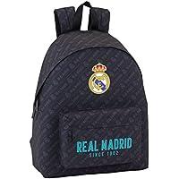 Safta Mochila juvenil Day Pack Estamp Real Madrid Black Oficial 330x150x420mm