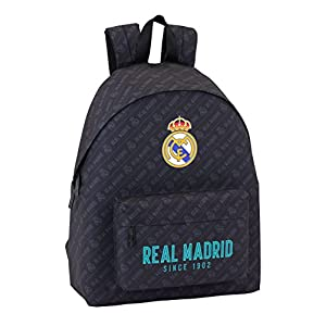 413OuCn6LuL. SS300  - Safta Mochila juvenil Day Pack Estamp Real Madrid Black Oficial 330x150x420mm