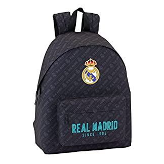 413OuCn6LuL. SS324  - Safta Mochila juvenil Day Pack Estamp Real Madrid Black Oficial 330x150x420mm