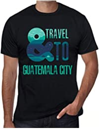 Hombre Camiseta Vintage T-Shirt Gráfico and Travel To Guatemala City Negro Profundo