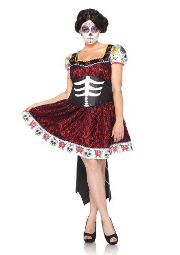 Leg Avenue 85136X - Tag Des Todes Liebling Kostüm Set, Übergröße: 44, schwarz