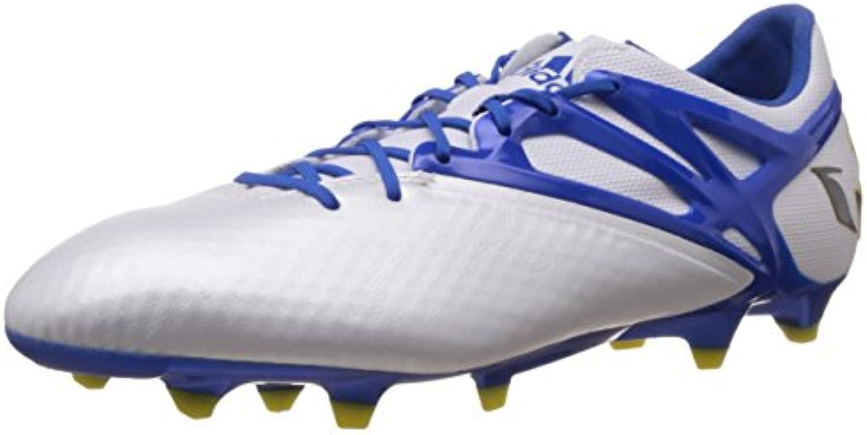 Adidas Messi 15.1 FG/AG - Botas para Hombre, Color Blanco/Azul/Negro, Talla 47 1/3