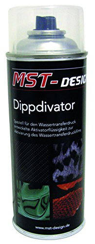 Set Aktivator (MST-Design Aktivator/Dippdivator für Wassertransferdruck Folie I 400 ml Spraydose I Für Wassertransferdruck I Aktivatorflüssigkeit für handelsübliche Wassertransferdruckfilme)