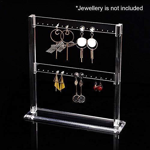 Blentude Klare Acrylschmuck Ohrringe Organizer-Rack-Display mit Standablage für Tischplatte (9,1 9,4 Zoll)