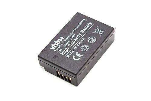Galleria fotografica vhbw Li-Ion batteria 750mAh (7.2V) per fotocamera digitale DSLR Canon EOS 200D, 77D, 750D, 760D, 800D, M3, M5, M6