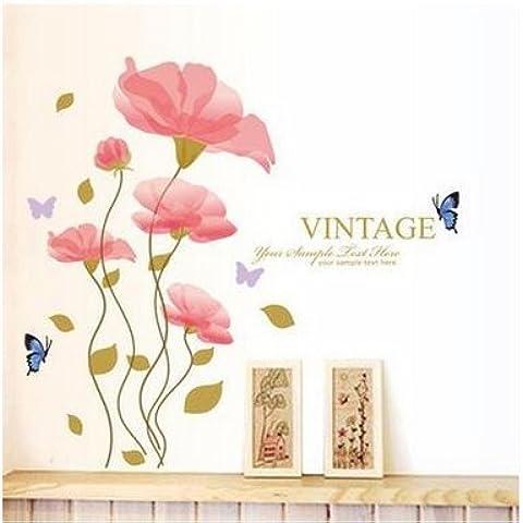 KAMAY' S® Fiore Wall Stickers Home Decor Soggiorno DIY parete rimovibile in vinile camera da letto casa decorazione Wall Art