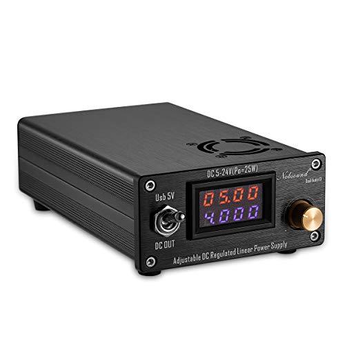 Nobsound - HiFi Audio, 25 W, USB, DC5V-24V, con alimentatore lineare regolato a corrente continua