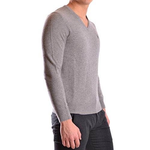 RALPH LAUREN - Pull col V Ralph Lauren en laine gris pour homme Gris