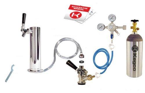 Kegco - Juego de conversión de columna de refrigeración para barriles de cerveza - D System - Producto «Amazon Parent»