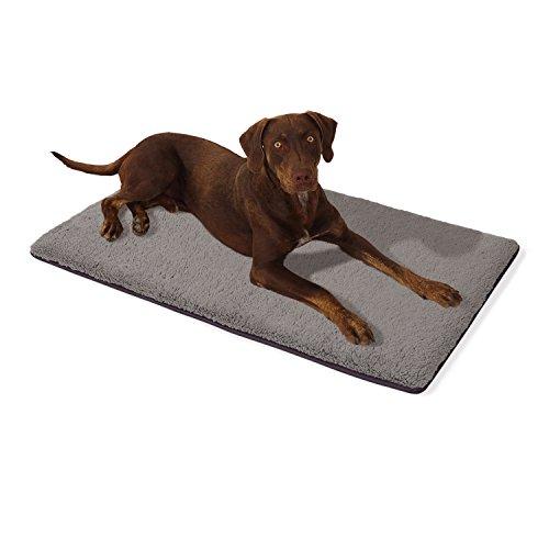 """brunolie """"Malu"""" Große Hundematte Waschbar, hygienisch und Rutschfest, Gemütliche Hundedecke Passend für Den Kofferraum in Grau, Größe L"""