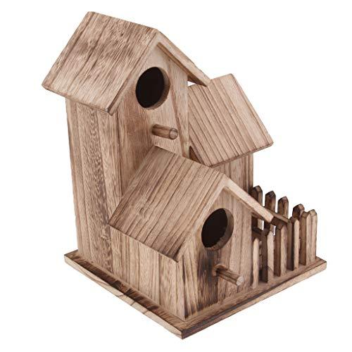 Fenteer Nichoirs Oiseaux Maison en Bois Rustique Accessoire Jardin - Size #2