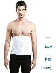 Cinturón de abdomen para hombre Cinturones Cinturón de cuerpo Cierre de cintura Cinturón de plástico para el vientre Zona de regulación transpirable ( Color : Blanco , Tamaño : XXL )