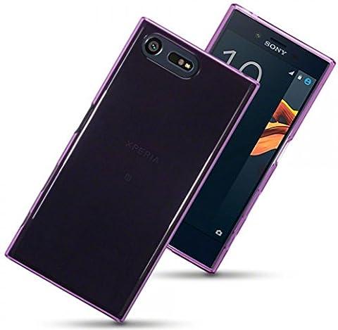 Coque Sony Xperia X Compact–The Keep Talking Shop Xperia X Compact Coque Coque en silicone gel étui de protection fin Coque arrière en TPU souple Bumper Motif résistant aux chocs pour Sony X Compact, Plastique, violet, Sony Xperia X