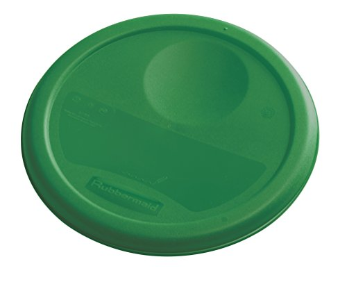 Rubbermaid Commercial Food Storage Container Lid, Round, Green, 3.8 L