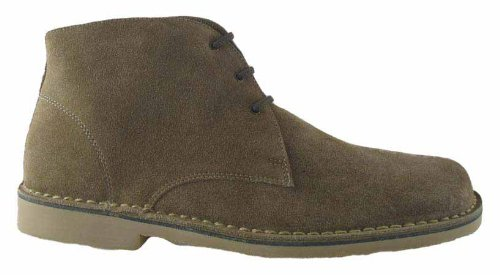 Roamers Mens 3 Eye Square Toe Suede Leather Desert Boots Sand UK...