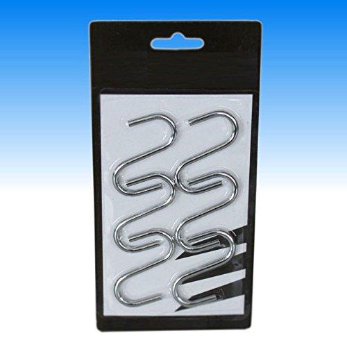 6 tlg. XL S-Haken Küchenhaken Handtuchhaken Garderobenstange Kleiderhaken Haken Set