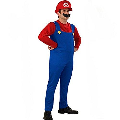 m Mario und Luigi M-XL (Super Mario Kostüm Für Männer)