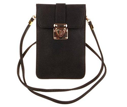 kiss-gold-luxury-matte-pu-leather-mini-crossbody-single-shoulder-bag-cellphone-pouch-model-a-black