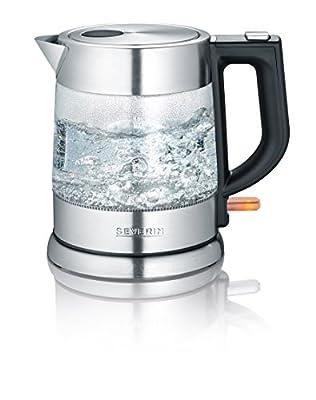 Severin WK 34681L 2200W Noir, Acier inoxydable, Transparent–Bouilloire Electrique 2200W, courant alternatif)